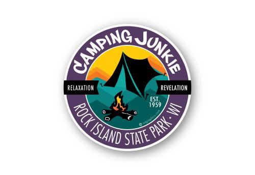 Wholesale Camping Junkie Sticker