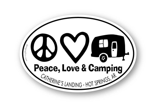 Wholesale Peace Love Camping Sticker