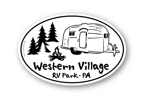 Wholesale Airstream Camping Sticker