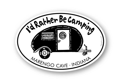Wholesale I'd Rather Be Camping Sticker