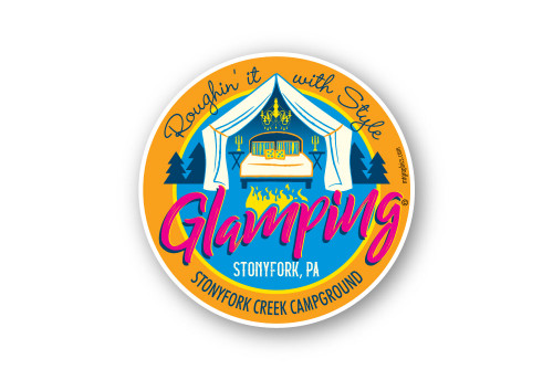 Wholesale Glamping Sticker