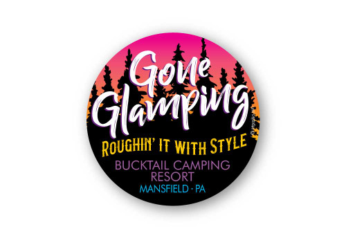 Wholesale Gone Glamping Sticker
