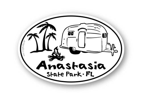 Wholesale Airstream Palm Trees Sticker