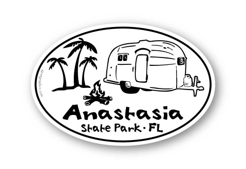 Wholesale Airstream Palm Trees Sticker