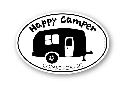 Wholesale Happy Camper Silhouette Sticker