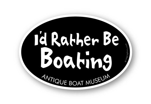 Wholesale I'd Rather Be Boating Sticker