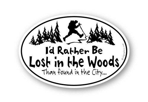 Wholesale Lost in the Woods Sticker