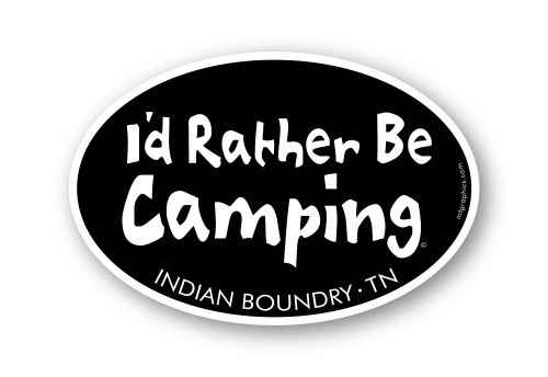 Wholesale I'd Rather Be Camping Oval Sticker