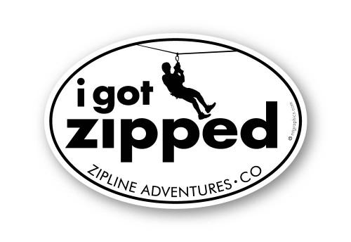 Wholesale I Got Zipped Sticker