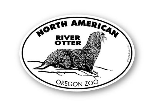Wholesale North American River Otter Sticker