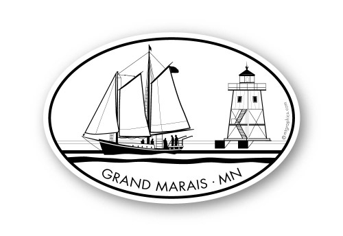 Wholesale Sailboat and Lighthouse Sticker
