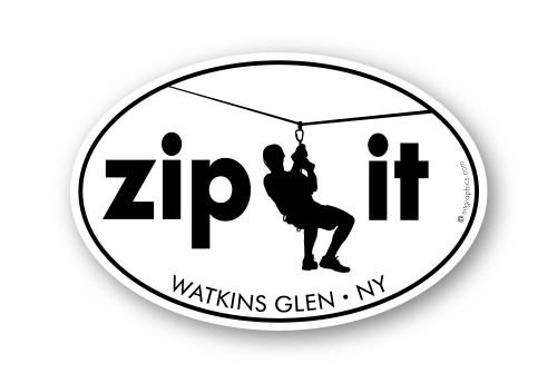 Wholesale Zip It Sticker