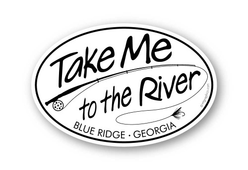 Wholesale Take Me to the River Fly Fishing Sticker