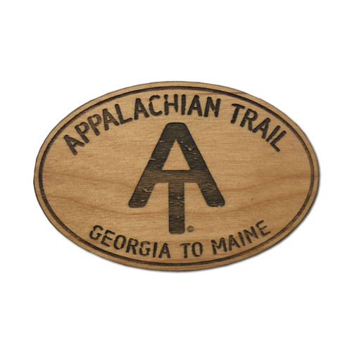 Appalachian Trail Wood Magnet 2x3""