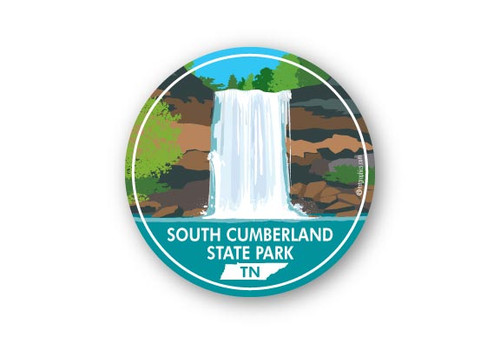 Wholesale Waterfall Round Sticker
