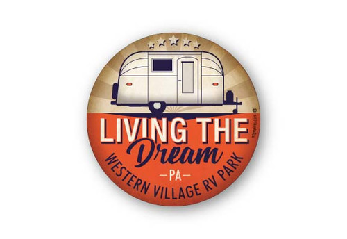 Wholesale Living the Dream Camper Sticker