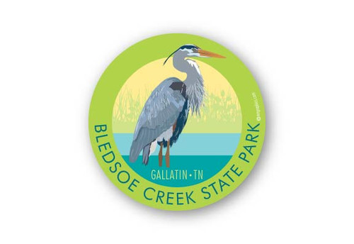 Wholesale Blue Heron Sticker