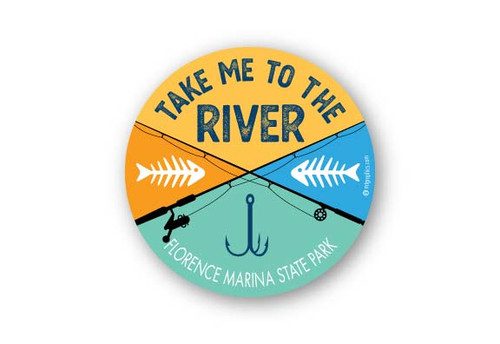 Wholesale Take Me to the River Round Sticker