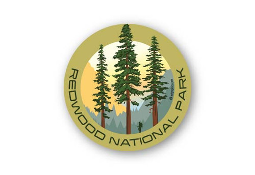 Wholesale Redwood Hiker Sticker
