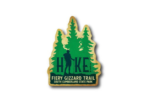 Wholesale Die Cut Pine Trees Hike Sticker