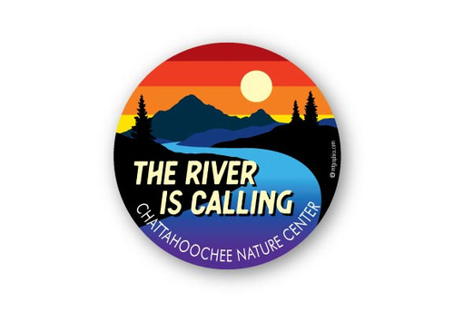Wholesale Mountain River is Calling Sunset Sticker
