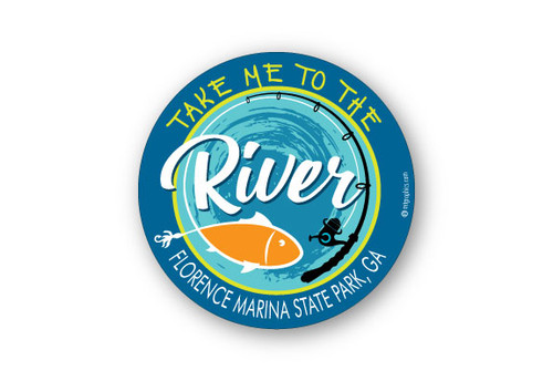 Wholesale Take Me to the River Fish Sticker