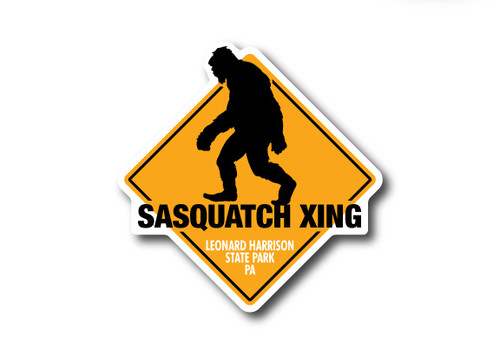 Wholesale Die Cut Sasquatch Crossing Sticker