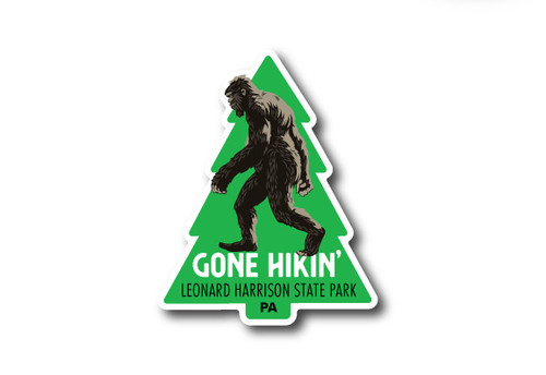 Wholesale Die Cut Sasquatch Gone Hiking Sticker