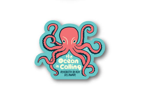 Wholesale Die Cut Octopus Sticker