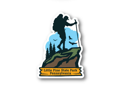 Wholesale Die Cut Mountain Hiker Sticker