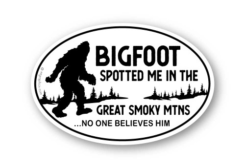 Bigfoot Spotted Me Sticker - Oval
