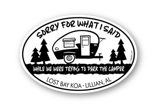 Wholesale Sorry For What I Said 4x6 Oval Sticker