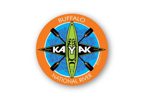 Wholesale Sit On Kayak Sticker - Orange