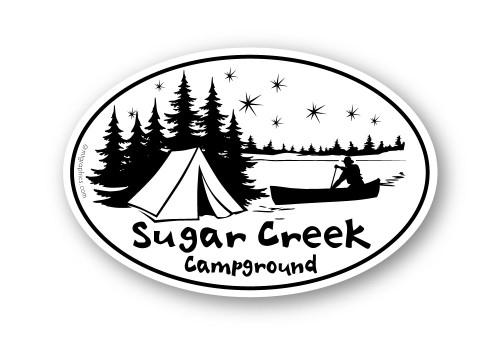 Wholesale Canoe & Campsite 4x6 Sticker