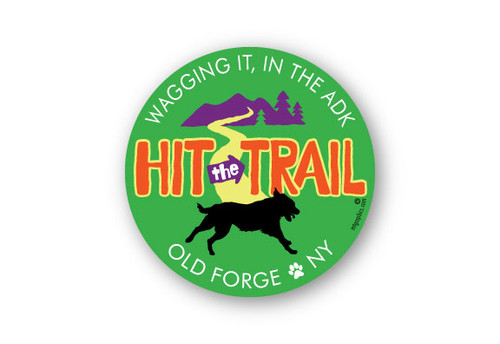 Wholesale Hit The Trail Dog Sticker