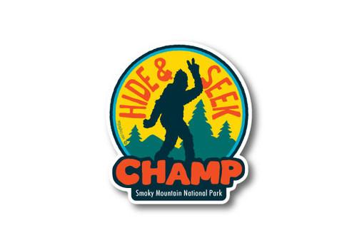 Wholesale Die Cut Hide & Seek Champ Sticker