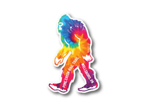 Wholesale Die Cut Bigfoot Tie-dye Sticker