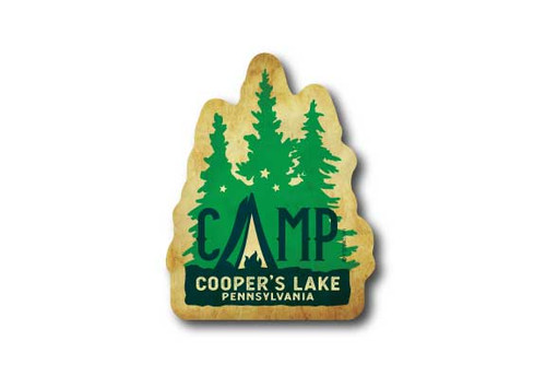 Wholesale Die Cut Camp Trees Sticker