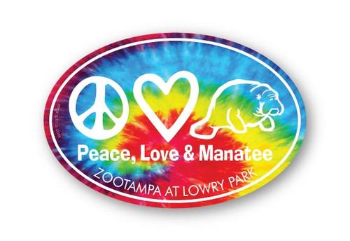 Wholesale Peace Love Manatee Sticker