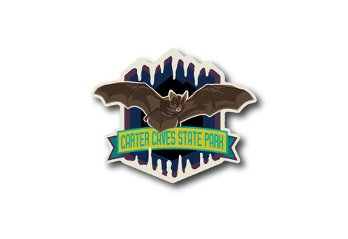 Wholesale Die Cut Brown Bat Sticker