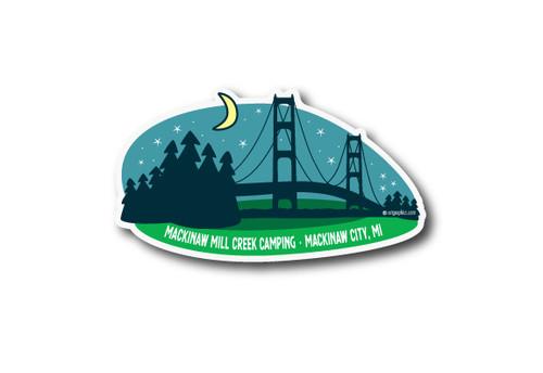 Wholesale Mackinaw Bridge Die Cut Sticker