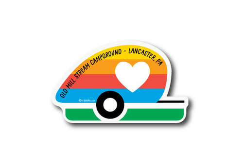 Wholesale Camper Love Die Cut Sticker