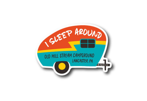 Wholesale I Sleep Around Camper Die Cut Sticker