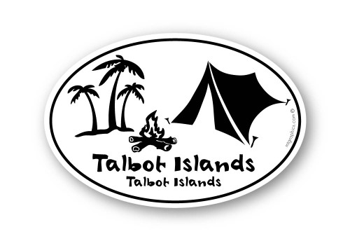 Wholesale Camping Palm Trees Sticker
