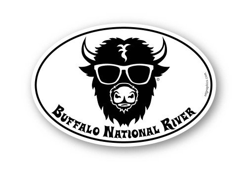 Buffalo National River Sunglasses Sticker