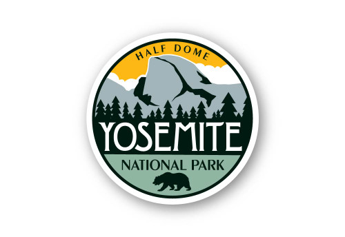 Half Dome Sticker