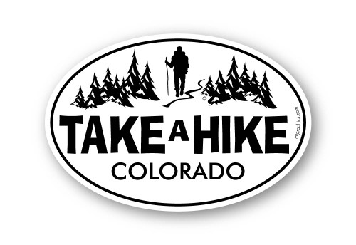 Take a Hike 4x6 inch sticker