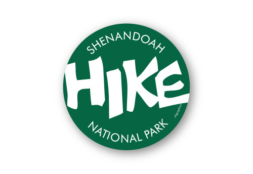 "HIKE Shenandoah National Park 4"" Round Sticker"