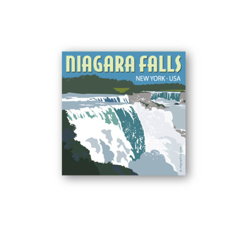 "Niagara Falls New York Sticker 4""x4"" square"