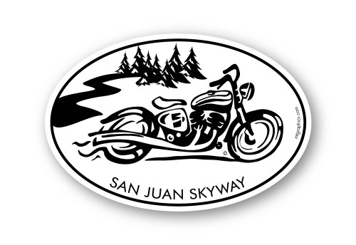 "San Juan Skyway Cruiser Sticker 4""x6"""